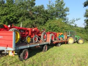 Charriot de tracteurs