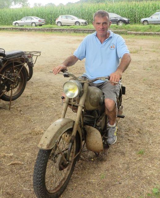 Le président à moto